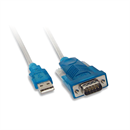 Adapter USB to serial DB9m RS232 with Prolific chipset, 9/25 adapter included, 180cm