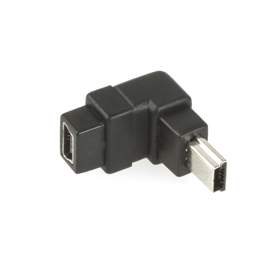 usb mini b adapters straight or angled usb cables with. Black Bedroom Furniture Sets. Home Design Ideas