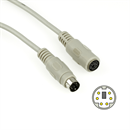 PS/2 extension cable Mini-DIN-6 male to female 5m